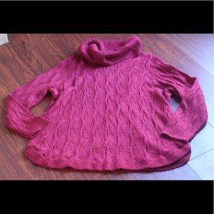 CJ Banks Red Cowl Neck Sweater